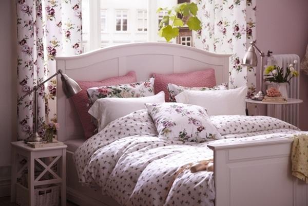 Sypialnia w stylu angielskim - Decoration chambre a coucher romantique ...
